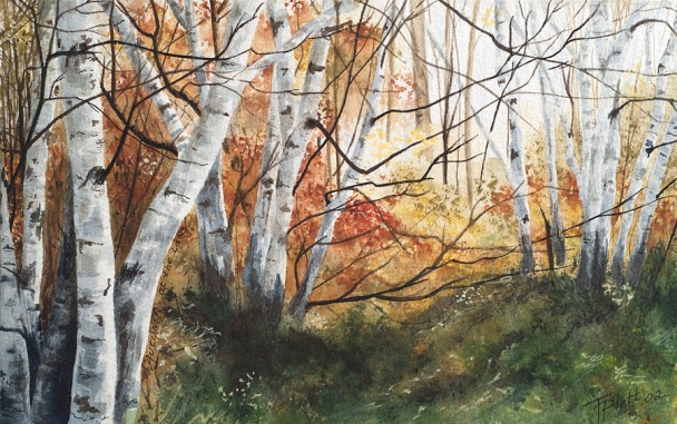 """""""Into the Light"""" Watercolor 6 x 9.5 on Arches 140# CP - SOLD"""