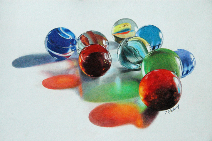 Marble Colored Pencil Drawings Of Clusters : Gallery terry mellway